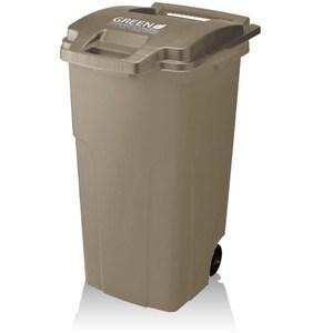 【日本RISU】機能型戶外式大容量連結垃圾桶 90L - 深棕色