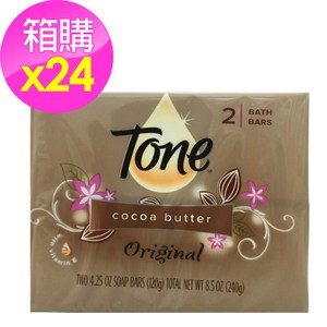 美國 Tone 潤膚香皂 可可脂/24組箱購(4.25oz*2塊*24組)