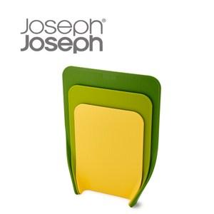 Joseph Joseph 好收納直立砧板三件組 多彩綠