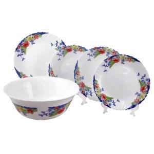 【法國ARCOPAL】現代藍強化餐具五件組