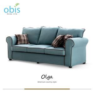 obis Olga 奧爾嘉-自然風清新感三人沙發