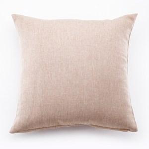 攸境仿麻素色抱枕 米色