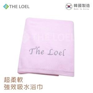 THE LOEL 韓國精梳紗浴巾(青藍色/鵝黃色/果凍粉)青藍色