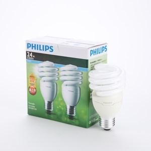 飛利浦新一代T2省電燈泡24W白2p