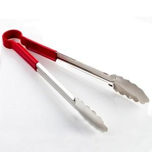 【PUSH!餐具廚房用品】漂亮的不鏽鋼食品夾麵包夾燒烤夾(中號一入)D61