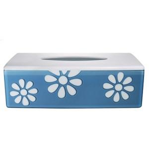 HOLA 小雛菊面紙盒 藍底白花