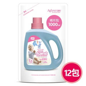 【快潔適】抗菌防蹣嬰兒洗衣精-1000ml補充包*12抗菌防蹣嬰兒洗衣精-1000ml補充