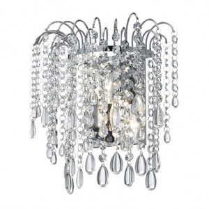 水晶瀑布玻璃雙壁燈(E14)