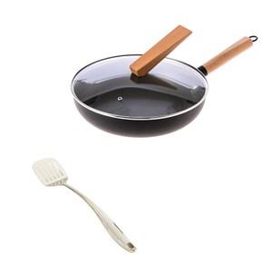 (組)炙鐵深煎鍋30cm+凱特不鏽鋼煎鏟