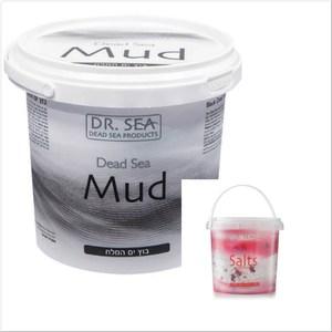 DR.SEA以色列死海礦物泥(1500g)*1+玫瑰精油沐浴鹽*1
