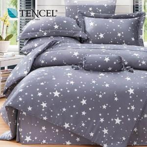 【貝兒居家寢飾生活館】100%萊賽爾天絲兩用被床包組(特大雙人/星語)
