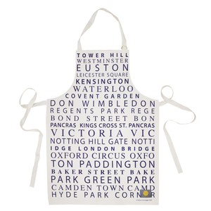 【英國蛋】純棉圍裙 倫敦地鐵紫色