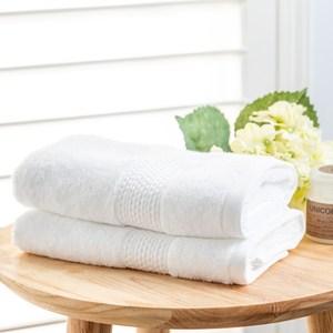葡萄牙進口方巾33x33cm 素色白 兩入組