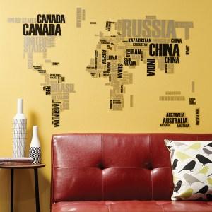 義大利 HOME DÉCOR 壁貼XL-世界地圖 C57110