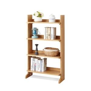 原木日式和風白橡木實木四層書架w0624