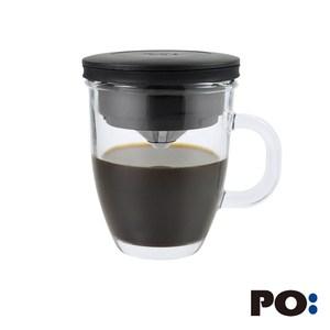 【獨家特賣】丹麥PO: 不銹鋼濾杯馬克組(黑)