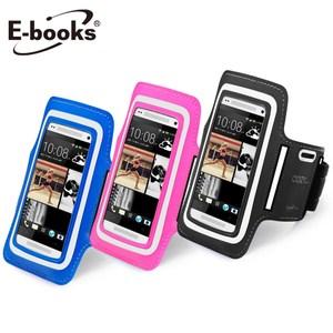 【2入組】E-books N10 智慧手機5.7吋以下運動手臂套黑1入桃紅1入