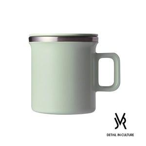 JVR 韓國原裝 MONO MUG馬卡龍不銹鋼馬克杯360ml綠色