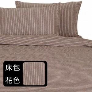 HOLA home自然針織條紋床包 加大 現代棕
