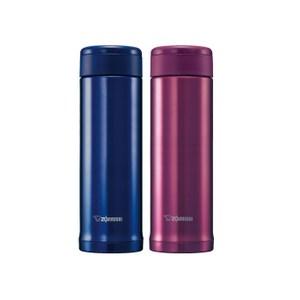 買一送一【象印】 0.5L*SLiT不鏽鋼真空保溫杯 SM-AGE50青金藍色AC+蓍草粉