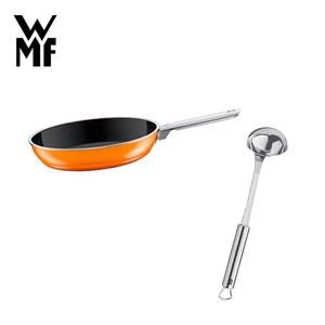 (組)WMF NATURamic 平底煎鍋 28cm (橘色)+肉汁勺
