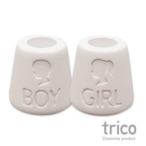 日本Trico 幸福點點名珪藻土牙刷架(Boy+Girl)