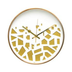 Lovel 30cm 3D立體古銅金框靜音時鐘-碎片紋(M721RY-WG)