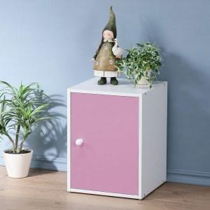 【Homelike】現代風單門置物櫃(三色)粉紅