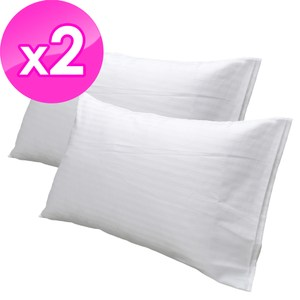 【法式寢飾花季】純品良織-細條紋信封式枕套X2件組