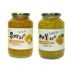 (組)韓國蜂蜜柚子茶 1入+蜂蜜檸檬茶 1入