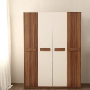 林氏木業現代簡約小戶型四門木質多功能衣櫃CP1D