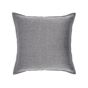 HOLA 素色織紋抱枕60x60cm 炭灰色
