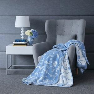 WEDGWOOD 豐饒之角超細纖維印花毛毯180x210cm