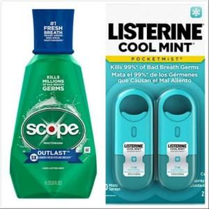美國 Scope漱口水(33.8oz)*2+LISTERINE口腔噴劑