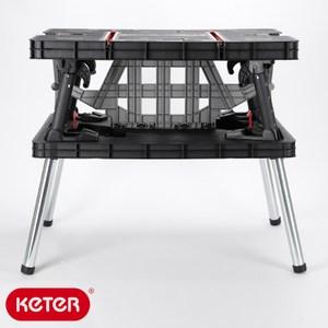 KETER 以色列 工作桌 30秒快速折疊 高乘重 含夾鉗