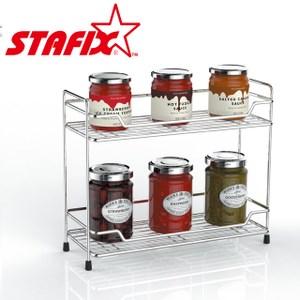 【韓國原裝進口STAFIX】全不銹鋼雙層置物架30.5x10.5x38CM