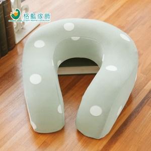 【格藍傢飾】水玉涼感舒壓護頸枕-抹茶綠(大)