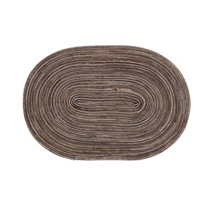 蔓綺編織橢圓餐墊30x45cm咖