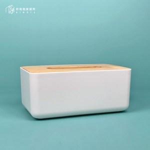 【你我他家居所】歐木白色歐木方形紙巾盒