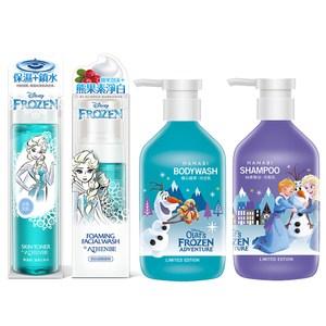 【快潔適】雅蓮碧 冰雪奇緣 保養清潔組 化妝水+潔顏慕絲+洗髮乳+沐浴乳