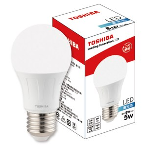 Toshiba 5W 廣角 LED燈泡 晝光色