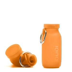BUBI BOTTLE 矽膠摺疊多功能水壺 450ml - 橘色