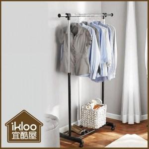 【ikloo】經典單桿升降曬衣架