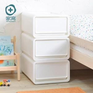 [特價]【+O 家窩】肯特耐重單層抽屜收納箱18L-雪白款-3入組單一規格