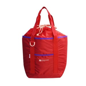【Lustroware】日本進口外出用束口保冷袋13L(紅)