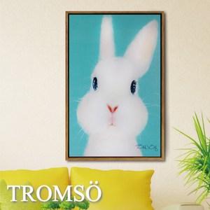 TROMSO北歐風尚板畫有框畫-萌萌小兔