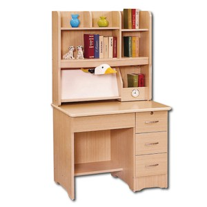 【YFS】卡爾白楓木3尺書桌全組-91x61x167cm