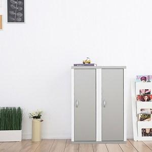 兩個一組【Accessco】日系雙色三格一門厚板收納書櫃(亮銀白)