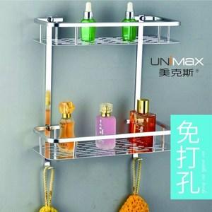 【UNIMAX 美克斯】鋁合金二層長方多用置物架