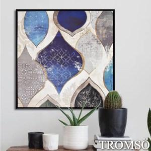 TROMSO時尚風華抽象有框畫大幅-藍調品味W972